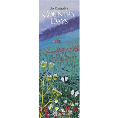 Jo Grundy Country Days Slim Calendar 2021