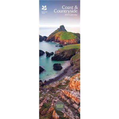 National Trust, Coast & Countryside Slim Calendar 2021