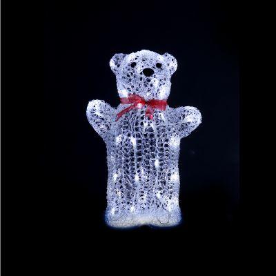 LED Acrylic Big Teddy Bear 43cm