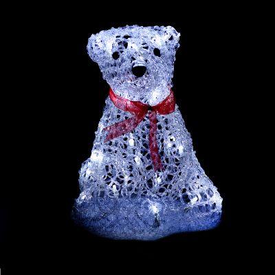 LED Acrylic Mama Teddy Bear 30cm