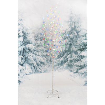 LED Birch Angel Tree 1.5m Multi Lights