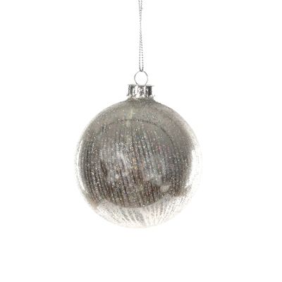 Glass Bauble Silver Lined