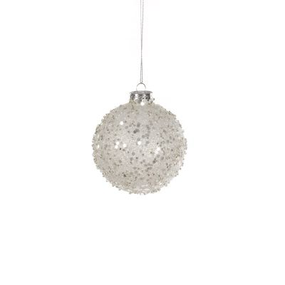Glass Bauble Sparkly