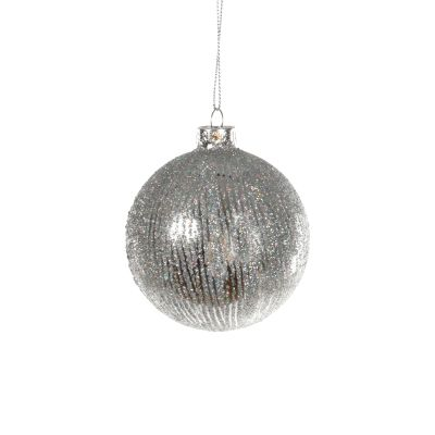 Glass Bauble Glitter Lined