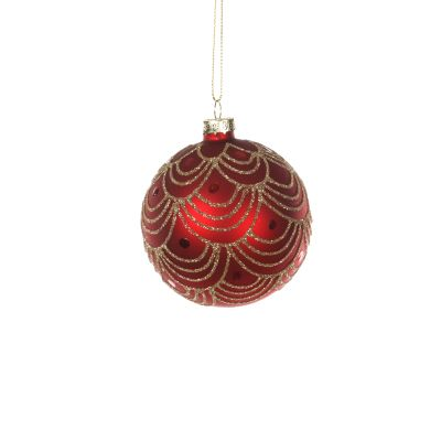 Glass Bauble with Swirl Effect