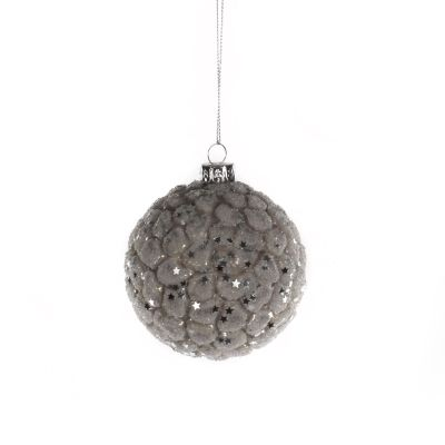 Glass Bauble with Glitter