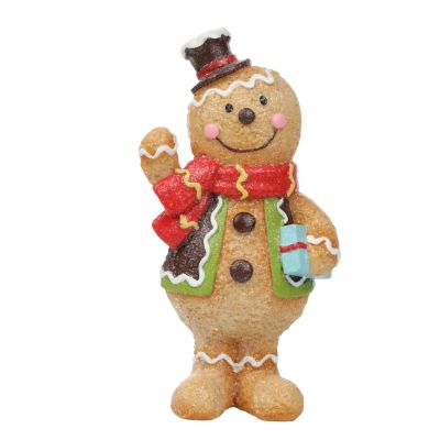 Gingerbread Snowman Figurine