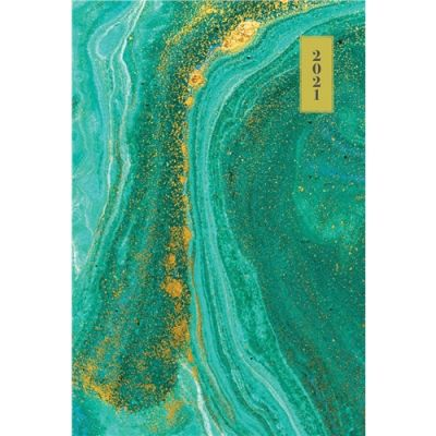 Fashion Turquoise Marble Pocket Diary 2021