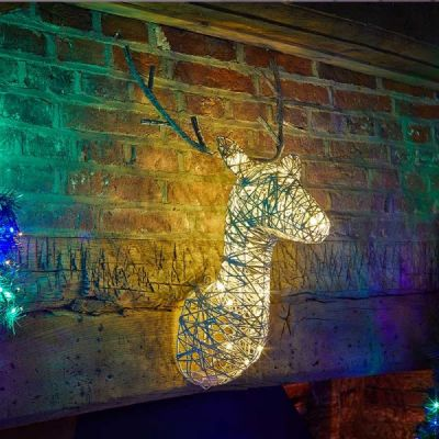 Sparkly Stag Head