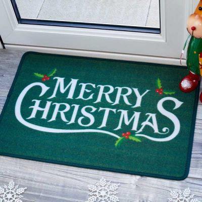 Holly Jolly Christmas Door Mat