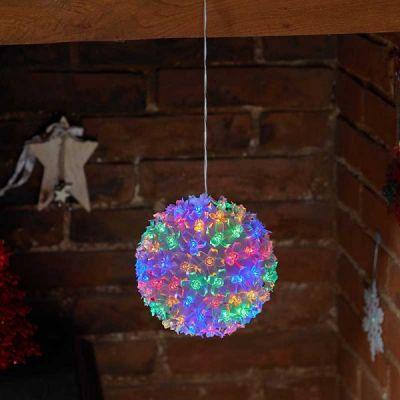 Large Multi Coloured SolFleur Bauble Esque Light