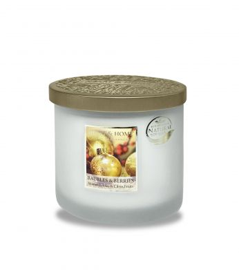 Baubles & Berries Scent Twin Wick Candle