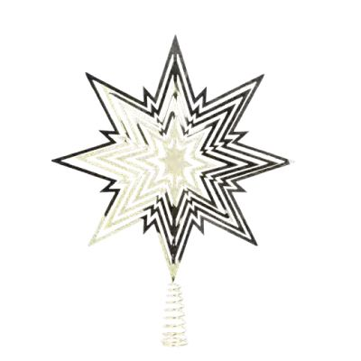 Gold Metal Star Tree Topper