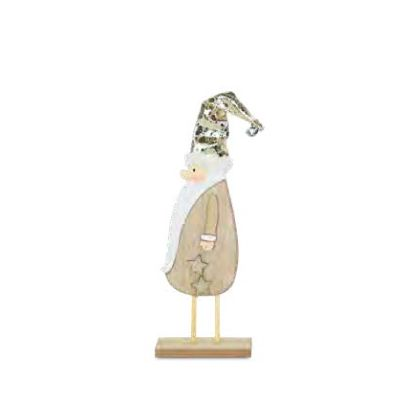 26cm Gold Hatted Santa Tabletop Ornament
