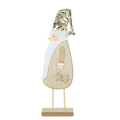36cm Gold Hatted Santa Tabletop Ornament