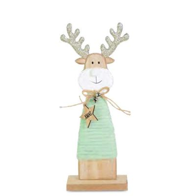 Large Glittered Reindeer Tabletop Decoration