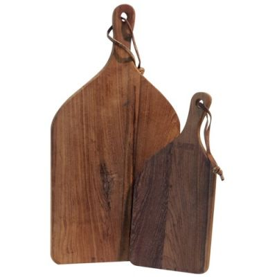 Kadai Teak Chopping Boards Set of 2