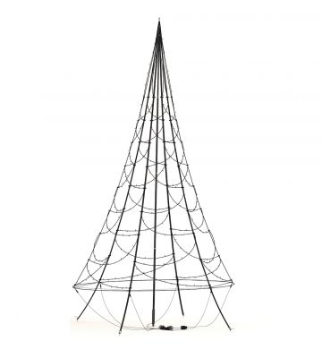 4m Fairybell Warm White Twinkle LED Outdoor Christmas Tree