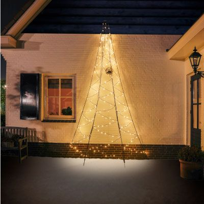 8m Fairybell Warm White LED Outdoor Christmas Tree