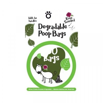 Degradable Scented Poop Bags   Pack of 50