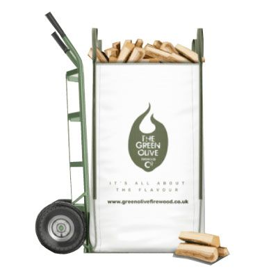 Green Olive Kiln Dried Hardwood Log Barrow Bag