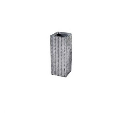 Arkansas Cubic Tall Washed Grey Pot 60cm
