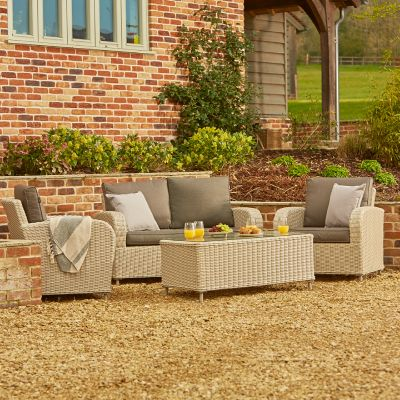 ENJOi Bay Grey 2 Seater Lounge Set