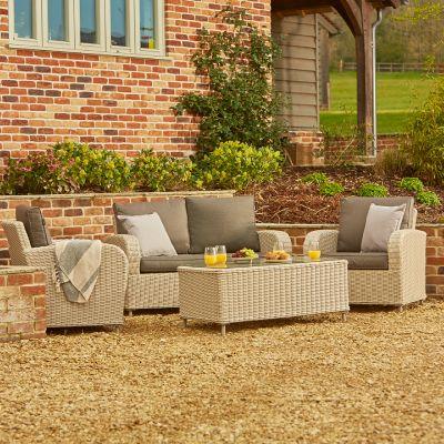ENJOi Bay Grey 2-Seater Lounge Set