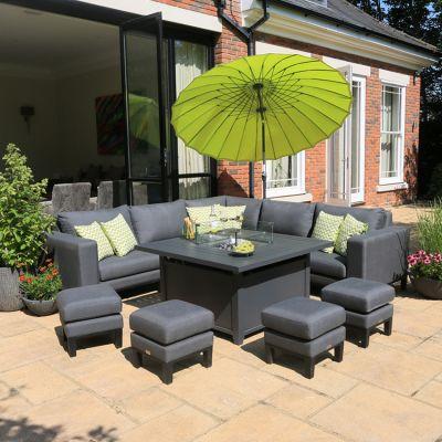ENJOi Elements Corner Sofa Set with Firepit