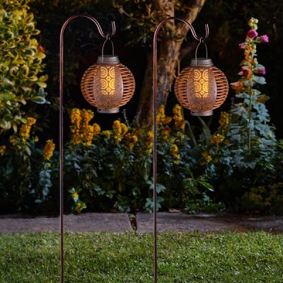 Smart Garden Forli Flaming Lantern Set   Pack of 2