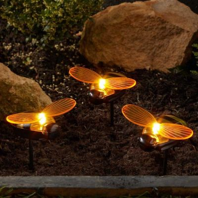Smart Garden Solar Bee Stake Light   Pack of 3