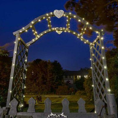 Smart Garden 200 Warm White Firefly Solar String Lights