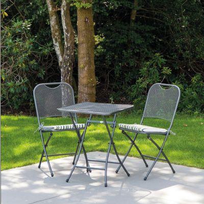 Alexander Rose Portofino Bistro Set With Square Table 0.7m x 0.7m