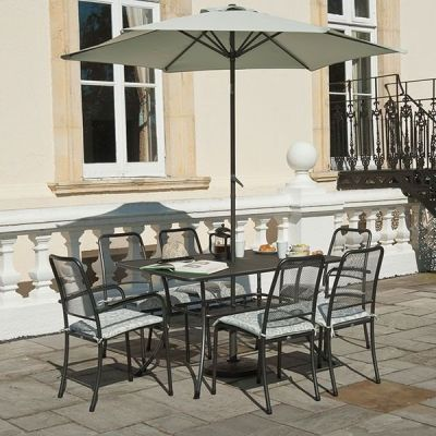 Alexander Rose Portofino 6 Seater Set with 1.45m x 0.9m Table