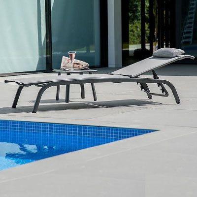 Alexander Rose Portofino Adjustable Sunbed and Table