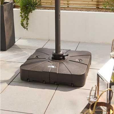 Nova Outdoor Living 100 Litre Sand & Water Fillable Cantilever Parasol Base