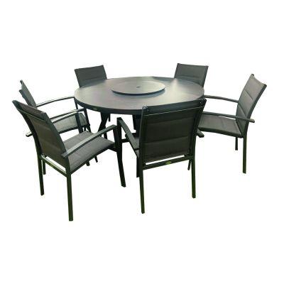 NOVA Milano 6 Seat Round Dining Set