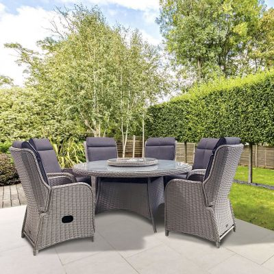 ENJOi Eden Grey 6 Seat Reclining Dining Set