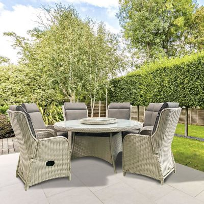 ENJOi Eden Pebble 6 Seat Reclining Dining Set