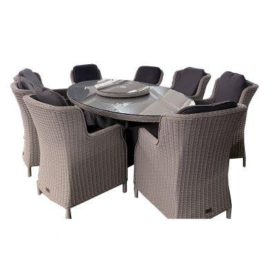 ENJOi Eden Windsor Grey 8 Seat Dining Seat