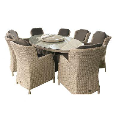 ENJOi Eden Windsor Pebble 8 Seat Dining Set