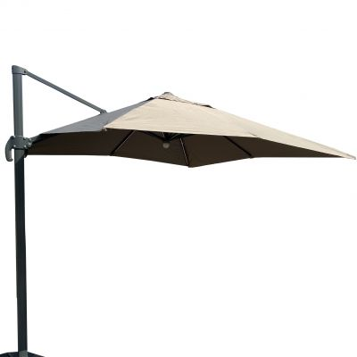 ENJOi Roma Deluxe 3 x 3m Cantilever Taupe with Base