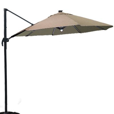 ENJOi Roma Deluxe 3.5m Cantilever Taupe with Base