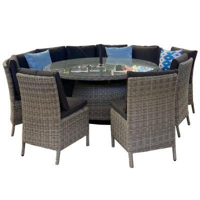 Harbo Cedar Grey 10 Seat Dining Set