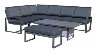 Harbo Oakmont Corner Casual Dining Sofa Set with rising table