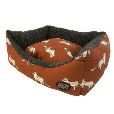 Snug & Cosy Rectangular Bed Fox Print