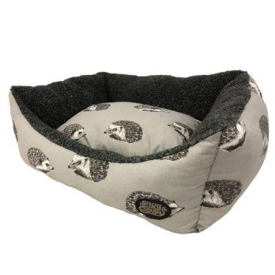 Snug & Cosy Rectangular Bed Hedgehog Print