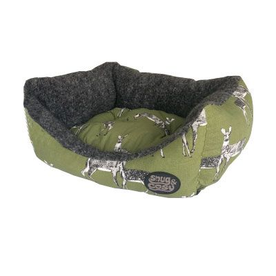 Snug & Cosy Rectangular Bed Deer Print