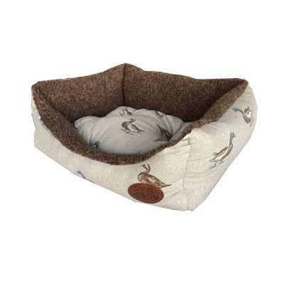 Snug & Cosy Rectangular Bed Duck Print Cream