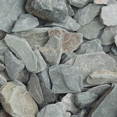 Meadow View Green Slate Chippings 40mm